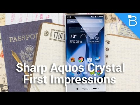 crystal - Sharp Aquos Crystal First Impressions Sharp Aquos Crystal: http://amzn.to/12l6IGg Top billing might go to devices like the iPhone 6 and Galaxy Note 4 right now, and that's to be expected;...