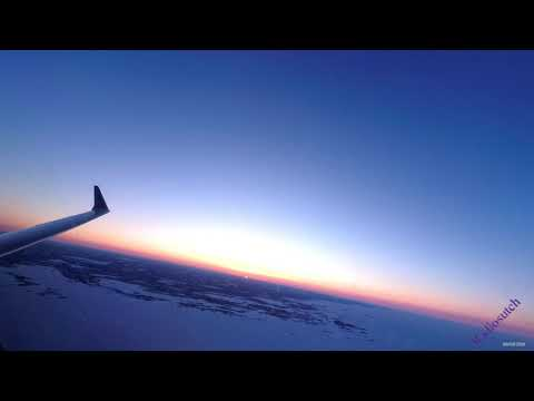 An early morning flight from Yellowknife to Vancouver on Air Canada CRJ900
