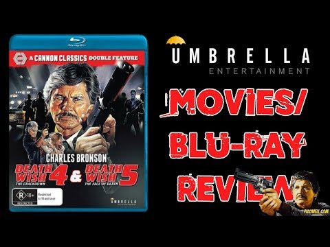 DEATH WISH 4 & 5 - Movies/Cannon Classics Double Feature Blu-ray Review (Umbrella Entertainment)