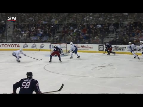 Video: Sedlak gives Blue Jackets early lead over Maple Leafs