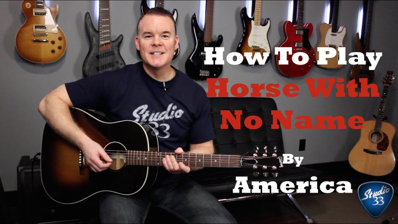 "How To Play ""Horse With No Name"" – Beginner Guitar Lesson"