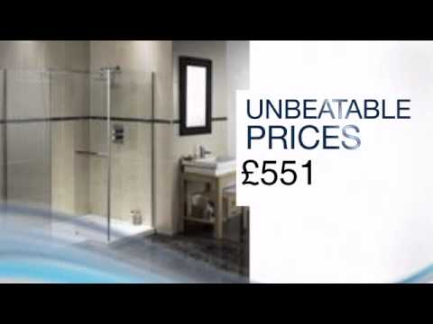 Aqualux Aquaspace, Square Walk-in shower tray and footboard - 1500mm x 1000mm Left or Right - jtspas