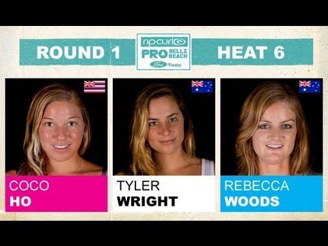 Round 1, Heat 6 - Coco Ho vs Tyler Wright vs Rebecca Woods
