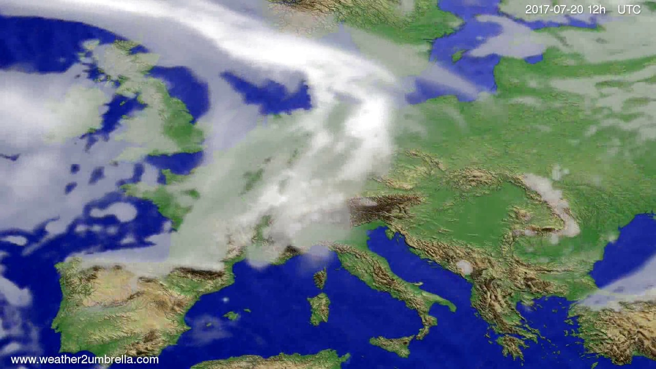 Cloud forecast Europe 2017-07-16