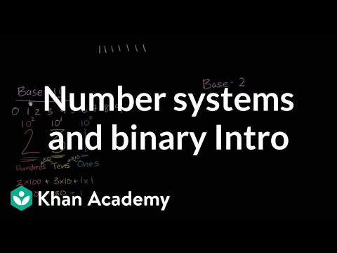 binary - Thinking about number systems. Comparing and explain decimal (base 10) and binary (base 2) number systems. More free lessons at: http://www.khanacademy.org/v...