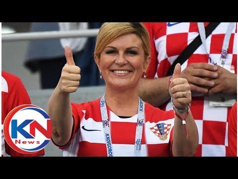Croatia's president Kolinda Grabar-Kitarović is a World Cup super fan