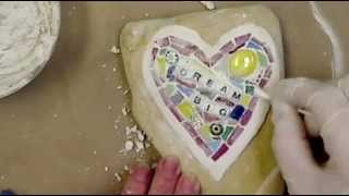How to Make a Dream Big Mosaic Rock by EcoHeidi Borchers - YouTube