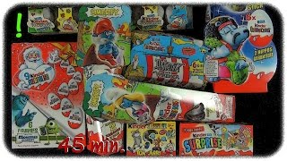 Kinder Surprise Mega Unboxing (Asterix / Disney Monsters University / Tom&Jerry / The Smurfs)