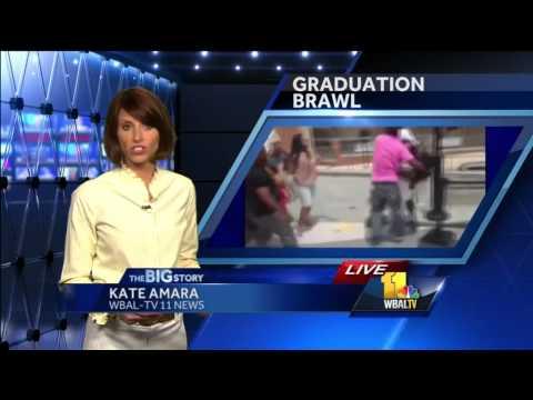 High school graduation fight captured on video