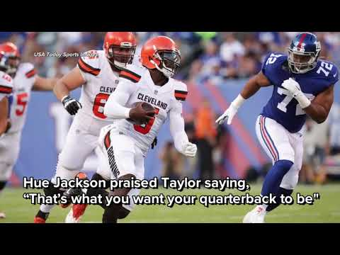 Cleveland Browns QBs Tyrod Taylor, Baker Mayfield have solid showings in win over New York Giants