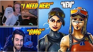 Streamers react to renegade raider and elite agent without mask! *AMAZING*