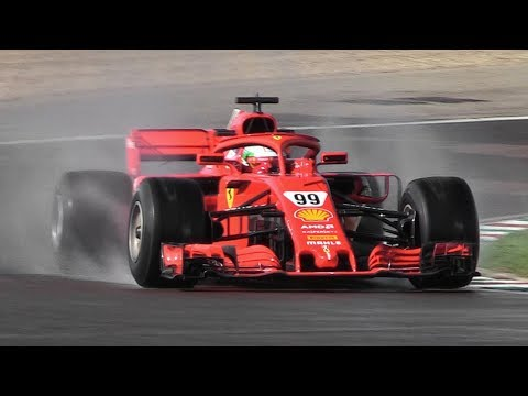 Antonio Giovinazzi Developing 2019 Pirelli F1 Wet Tires W/ A Ferrari SF71H