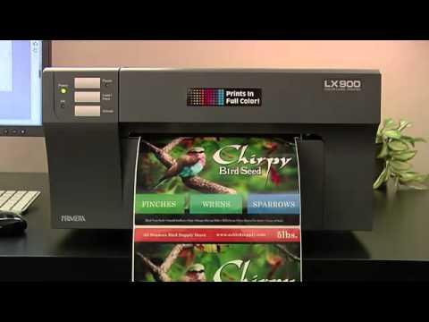 Primera LX900 - Impresora de etiquetas a color видео