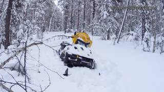9. Skidoo Tundra 600 ACE LT 2016 in deep powder