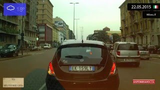 Limbiate Italy  city images : Driving from Centro Direzionale di Milano to Limbiate (Italy) 22.05.2015 Timelapse x4