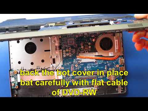 DELL Inspiron 5558 fully cleaning and assembling