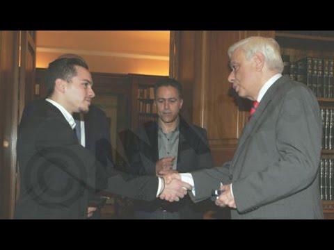 Τον παγκόσμιο πρωταθλητή Λευτέρη Πετρούνια δέχθηκε ο Πρ. Παυλόπουλος