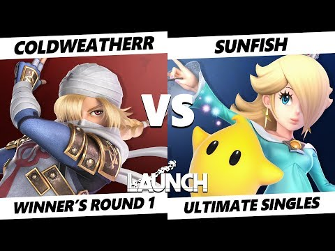 Launch Smash Ultimate - SL ColdWeatherr (Sheik) VS SL Sunfish (Rosalina) SSBU Winner's Round 1