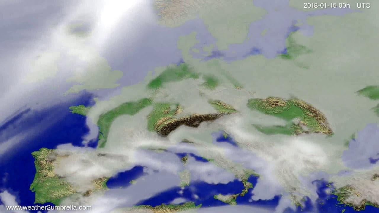 Cloud forecast Europe 2018-01-12