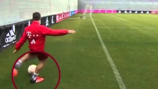 Bayern Münih'te antrenman için sahaya çıkarken fizik kurallarına aykırı bi gol attı...