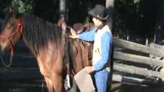 Saddling a horse - Part 2/4