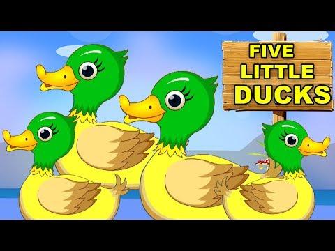 fünf kleine Enten | Kinderreime | Five Little Ducks Rhymes