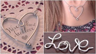 DIY Wire Heart Necklace Pendant - Name Jewelry How To - YouTube