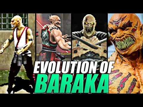 Evolution of Baraka from Mortal Kombat (1993-2019)