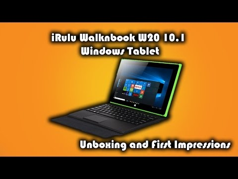 Irulu Walknbook W20 Windows 10.1 inch Tablet PC Unboxing and First Impressions