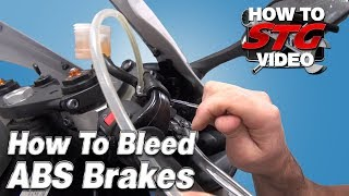 10. How To Bleed ABS Equipped Motorcycle Brakes from SportbikeTrackGear.com