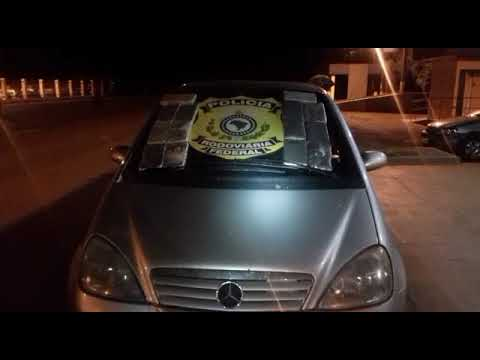 PRF prende casal com 14 kg de cocaína na BR-364, em Jataí (GO)