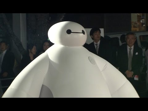 red carpet - The meet and greet version of the Baymax character from Disney's