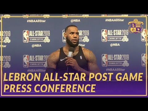 Video: 2019 NBA All-Star: LeBron On His Team Getting the W, Playing w/ DWade, & Rest of Lakers Season
