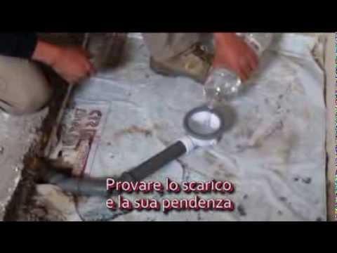 PIATTO DOCCIA CUBING montaggio scarico e muratura
