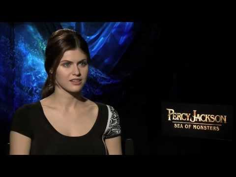 Alexandra Daddario - The movie's Annabeth on returning to the role, going blonde and why Nathan Fillion is