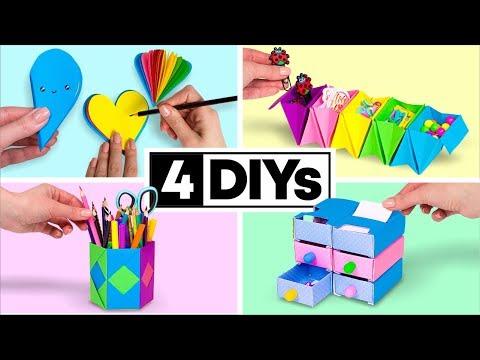4 DIY You Can Make in 5 MINUTES! DIY SCHOOL SUPPLIES