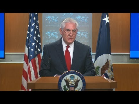 Rex Tillerson statement in US State Department briefing room after firing | ABC News special report