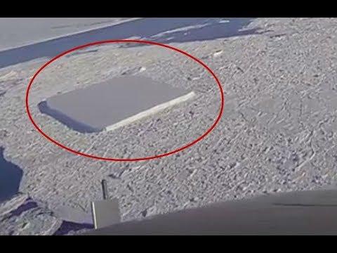 El extraño iceberg rectangular descubierto por la NASA