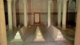 The Saadian tombs (Tombeaux Saadiens) in the kasbah of Marrakech were rediscovered in 1917, having been sealed off for ...