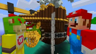 Minecraft Wii U | Super Mario Bros | Mario VS Bowser Jr