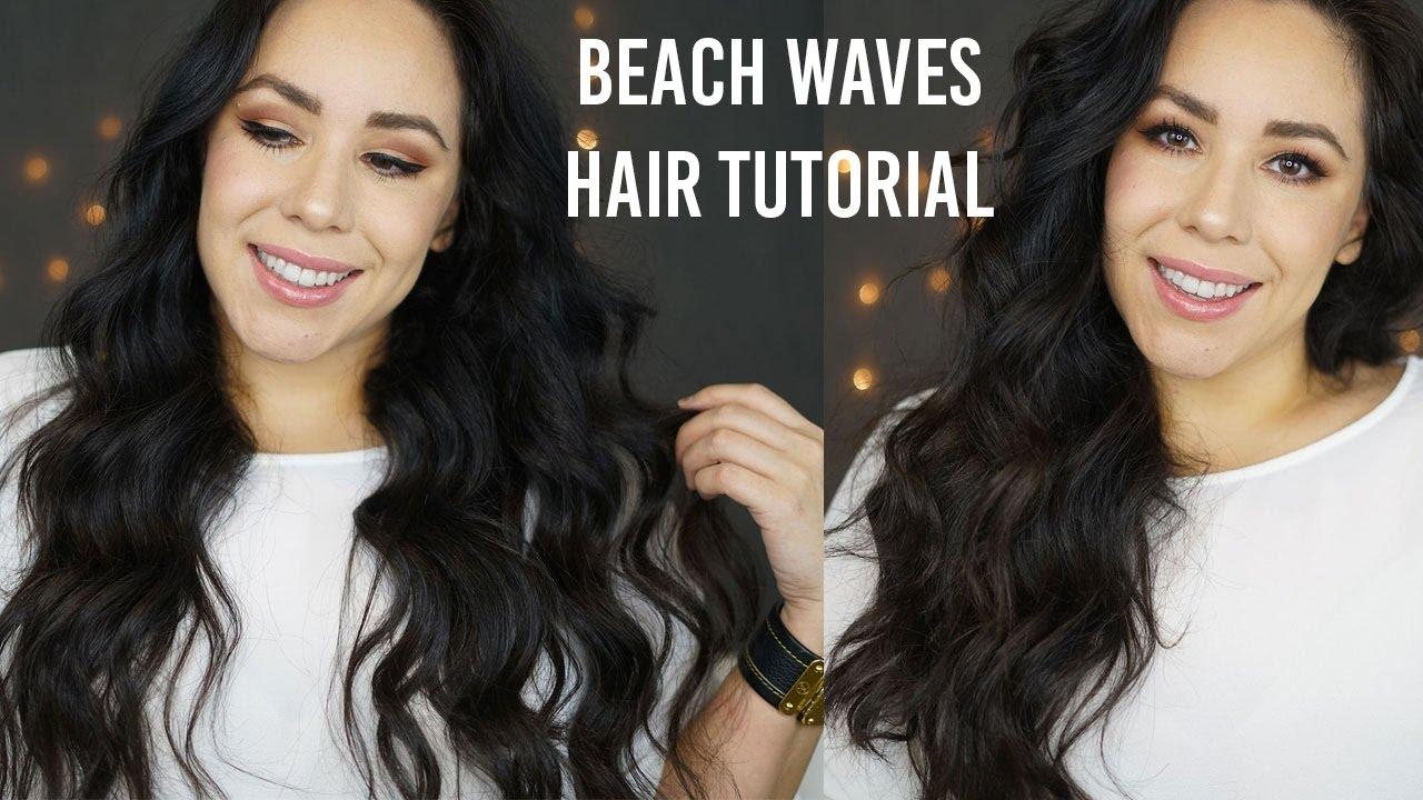 Beach Waves Hair Tutorial | Wavy Hair Tutorial 1 inch Curling Wand