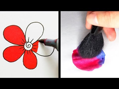 Video 27 COOL DRAWING TRICKS THAT YOU WILL LOVE download in MP3, 3GP, MP4, WEBM, AVI, FLV January 2017