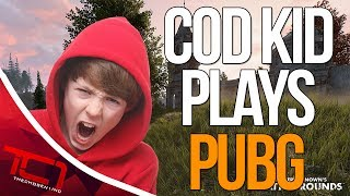 """COD KID PLAYS PLAYER UNKOWNS BATTLEGROUNDS - 1ST GAME. Today my friend tries to play the newest and fast rising steam title PUBG. Let me know what you would like my friend to try next time in the comments below.Best Place to buy cheap csgo skins is   https://www.rpgah.com/, Use code""""JOB""""get a 3% discount!GIVEAWAY - https://gleam.io/LXWRt/win-awp-hyperbeast-ft★ Patreon - https://goo.gl/cZcV7R★ 2nd Channel - https://goo.gl/RyvCmn★Snacphat - TheChosen1inc★Instagram - https://goo.gl/cv1hvL★Twitch - http://goo.gl/kRBgH2★Twitter - https://goo.gl/xUmcOE★Steam Group - http://goo.gl/Radyih (Join For Updates)★Intro Song - https://goo.gl/L8qshP★Outro Song - https://goo.gl/sPD2Q1★Config - http://goo.gl/vCXbiKThechosen1inc is a cs go channel focused on talking about everything cs go. The focus is bringing you the latest cs go news and also opinions on the latest things going on in the counter strike global offensive community. Feel free to subscribe if your interested in counter strike global offensive content and the opinions of an angry man.Johnny BumbleFuck Is Always Watching ༼◕_◕༽Contact Email - Schonewise@gmail.com"""