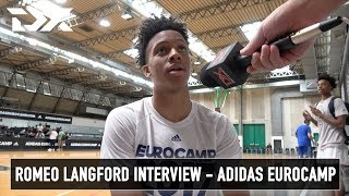 Romeo Langford Interview - Adidas Eurocamp
