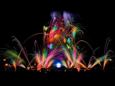 Disney's Epcot Center Epic Fireworks 2013