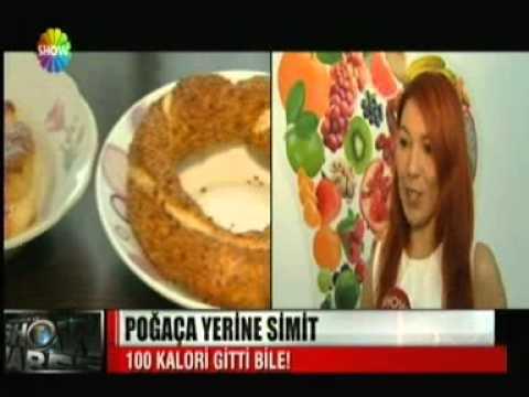 Diyetisyen ve Yaşam Koçu Gizem ŞEBER; 24 Eylül Salı 2013 Salı akşamı Show TV Anahaber Bülteni'nin konuğu oldu. Her öğünden 100 kalori kesmenin yollarını anlattı.