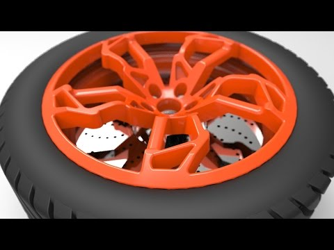 How to make a CAR WHEEL (Lamborghini Egoista)