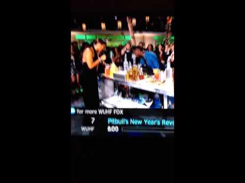 "Pitbull Falling On ""Pitbulls New Year Resolution"""