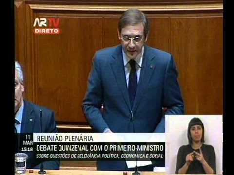 Pedro Passos Coelho no Debate Quinzenal