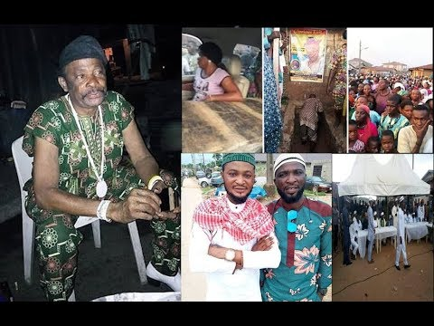 Touching! 8-day Fidau prayers of Late Yoruba Actor Dagunro,See His Two Kids He Left Behind